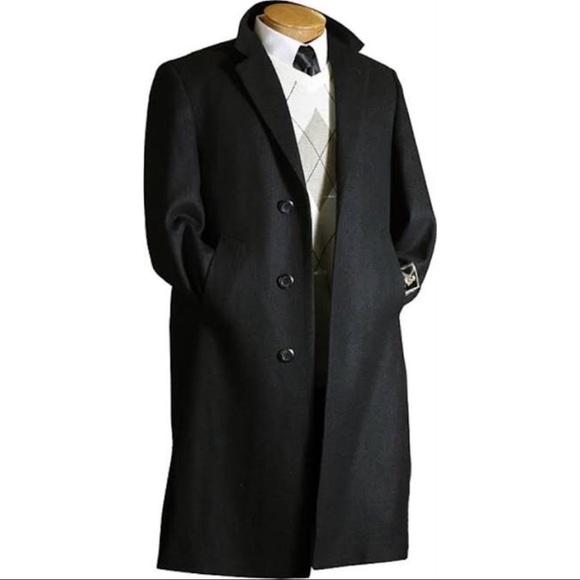 super specials enjoy clearance price best website Men's black Chaps trench coat
